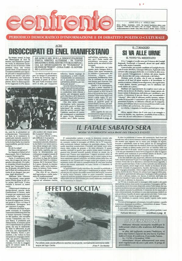 Confronto n°4 del 1990