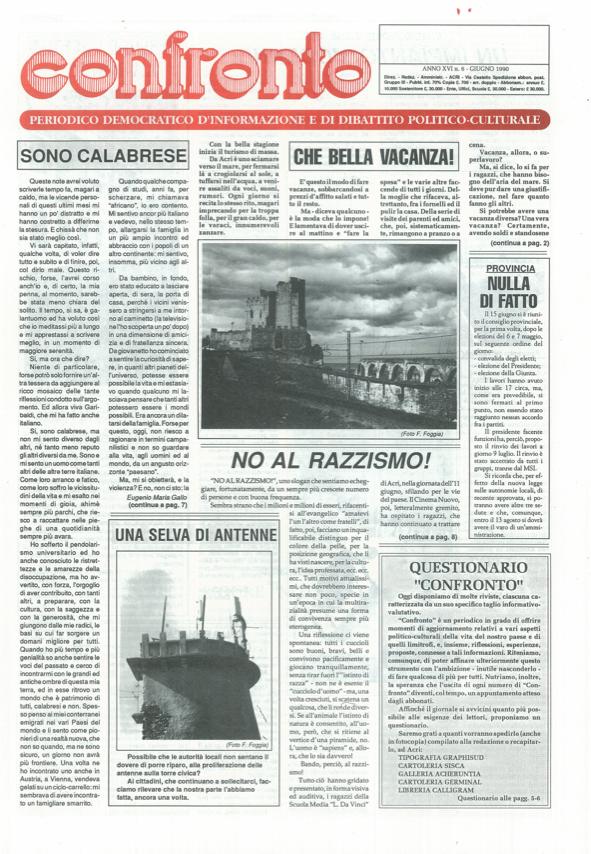 Confronto n°6 del 1990