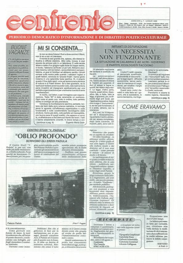 Confronto n°7 del 1990