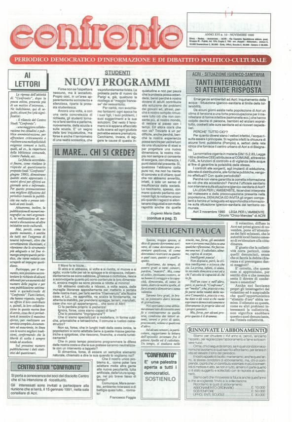 Confronto n°10 del 1990