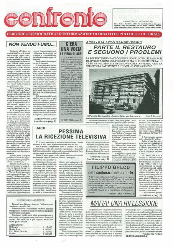 Confronto n°10 del 1991