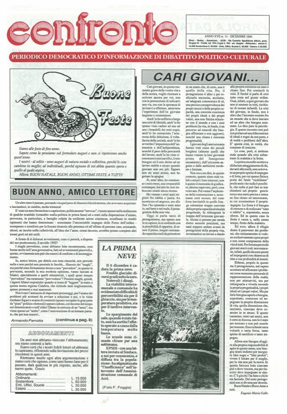 Confronto n°11 del 1991