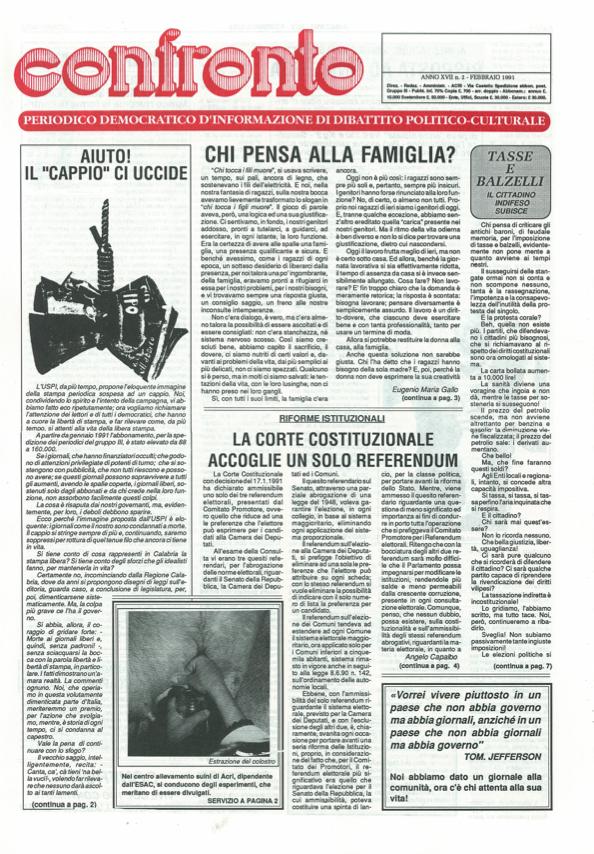 Confronto n°2 del 1991