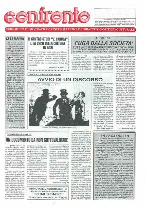 Confronto n°5 del 1991