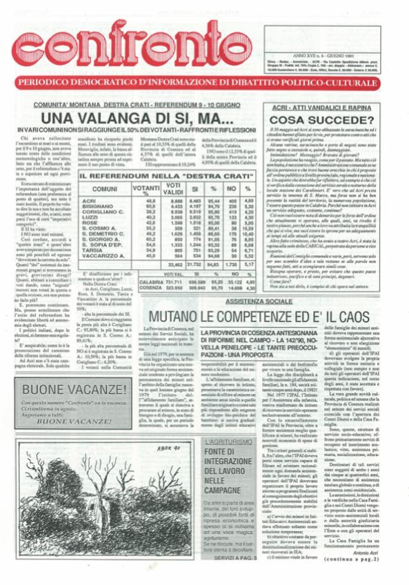 Confronto n°6 del 1991