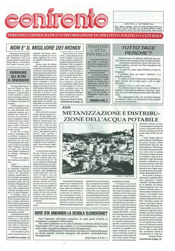 Confronto n°8 del 1991