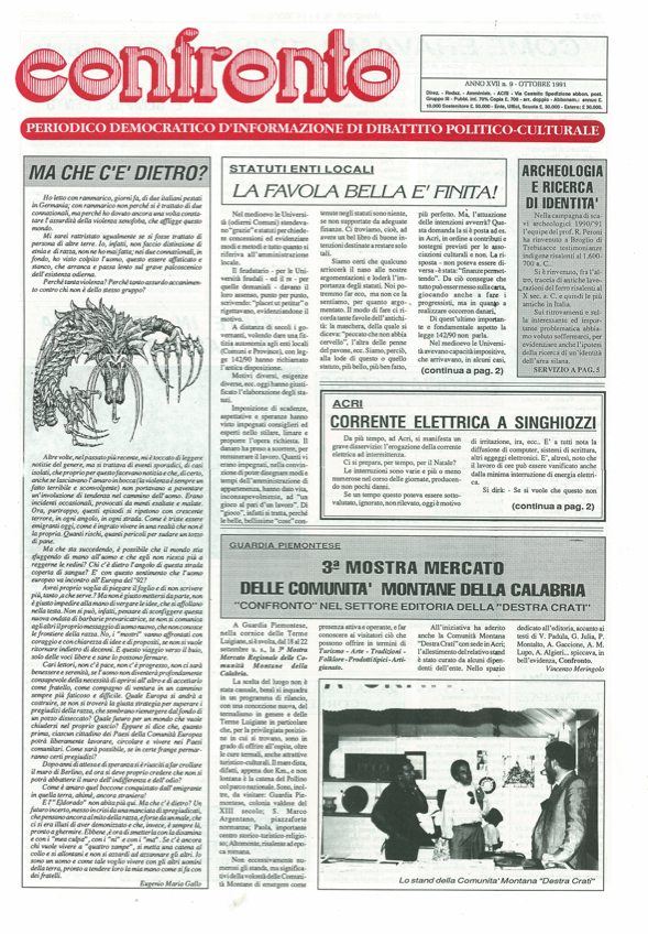 Confronto n°9 del 1991