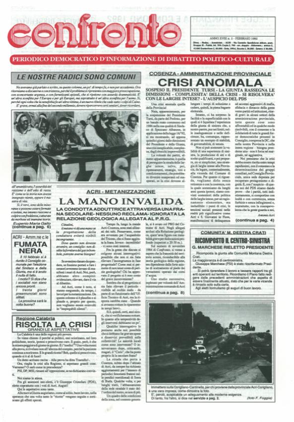 Confronto n°2 del 1992