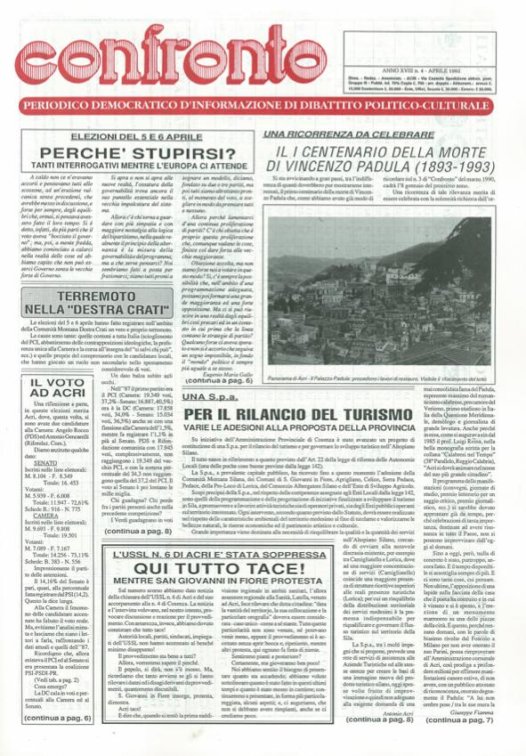 Confronto n°4 del 1992