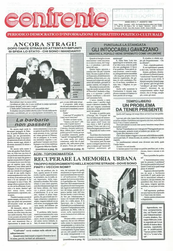 Confronto n°7 del 1992