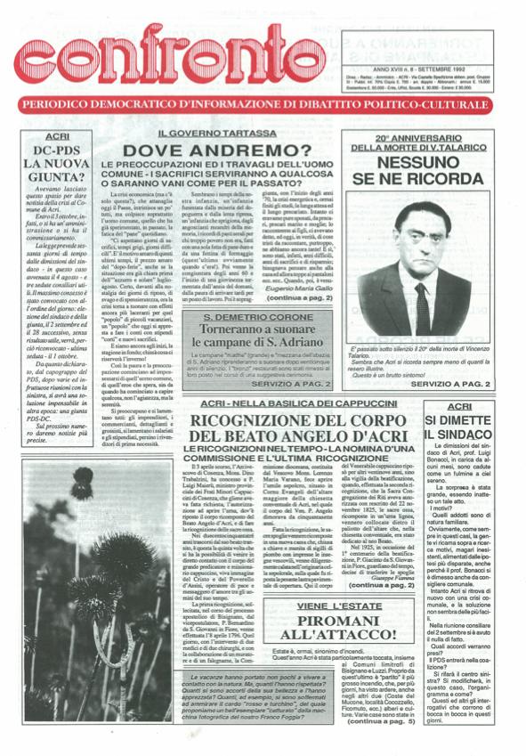 Confronto n°8 del 1992