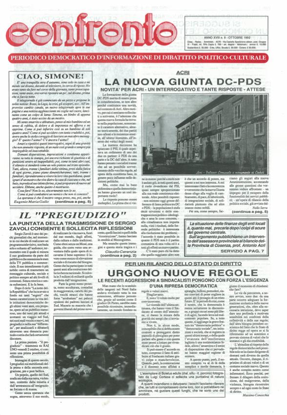 Confronto n°9 del 1992
