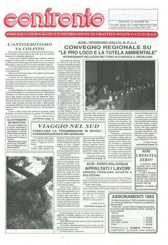 Confronto n°10 del 1992