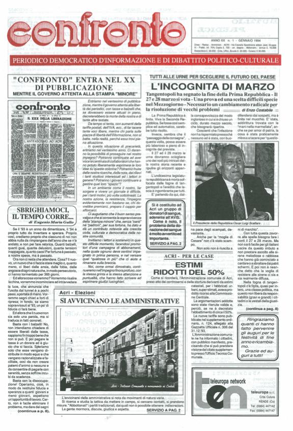 Confronto n°1 del 1994