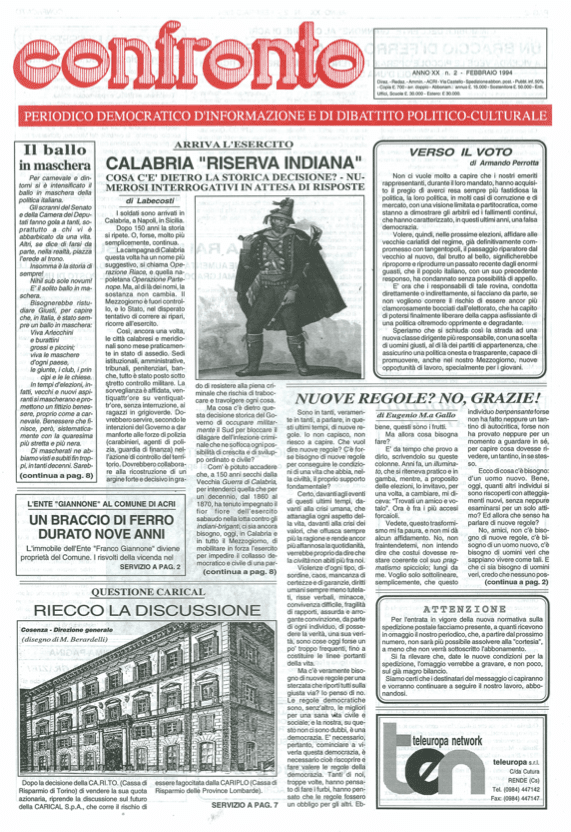 Confronto n°2 del 1994