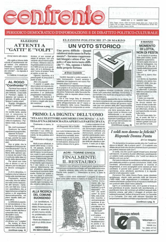 Confronto n°3 del 1994