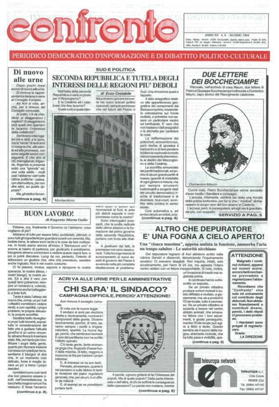 Confronto n°6 del 1994