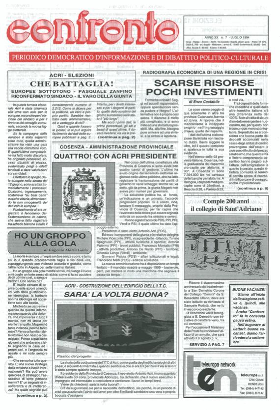 Confronto n°7 del 1994