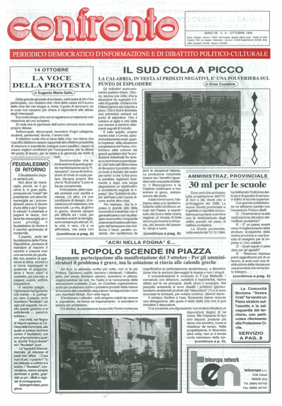 Confronto n°9 del 1994