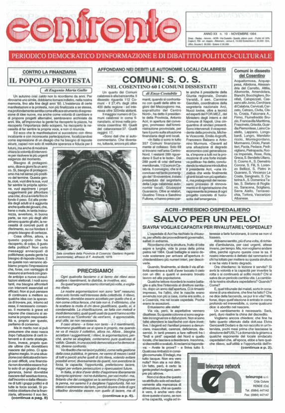 Confronto n°10 del 1994