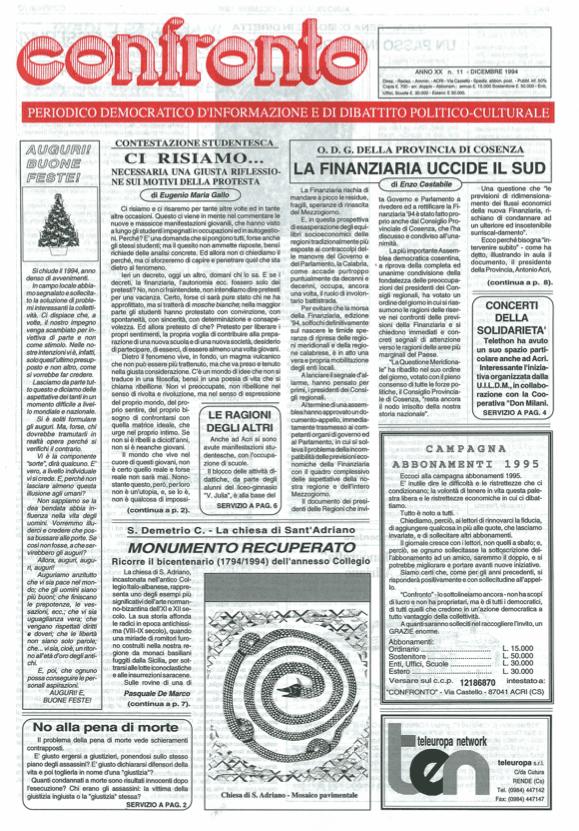 Confronto n°11 del 1994